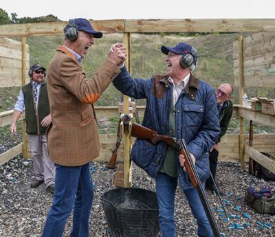 Stars come out in force for Phillip Schofield's charity clay pigeon event