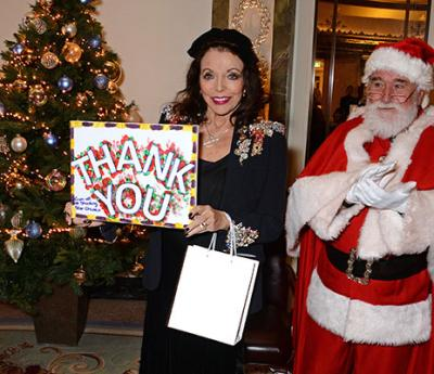 Dame Joan Collins hosts a festive afternoon to remember at The Dorchester